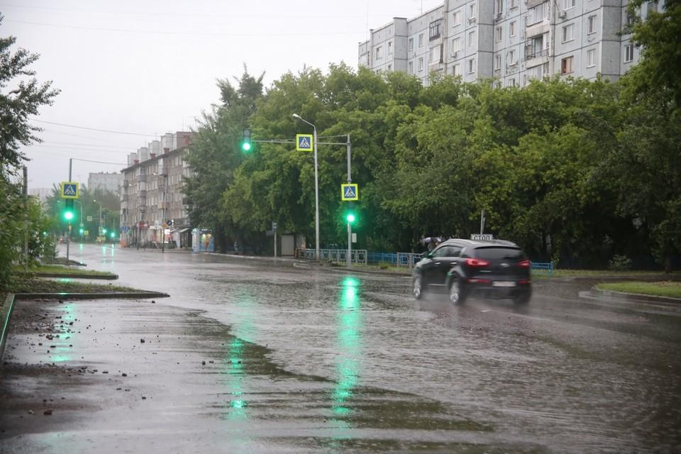 Последствия ливневого потопа в Красноярске 20 июня 2021 года