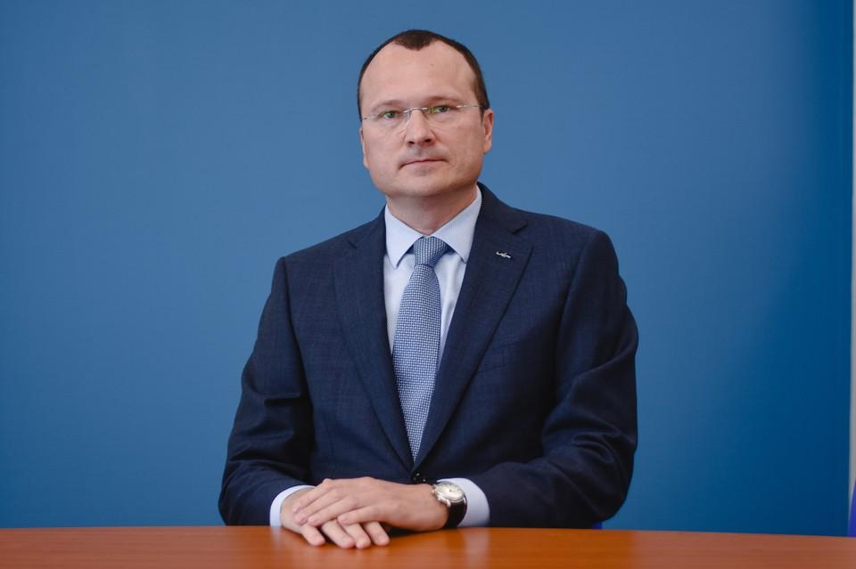 Генеральный директор Архангельского целлюлозно-бумажного комбината Дмитрий Зылев. Фото: сайт АЦБК