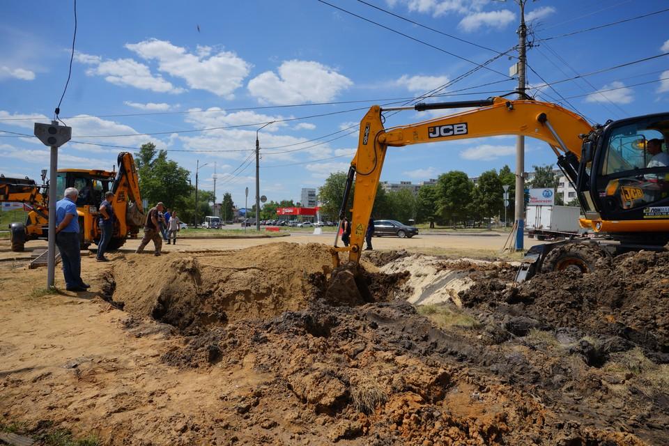 Участок магистрального водопровода в Орле починили