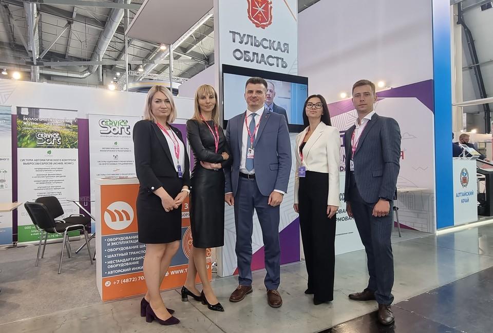 На мероприятии Тульский регион представил министр промышленности и торговли Тульской области Вячеслав Романов и команда Центра поддержки экспорта.