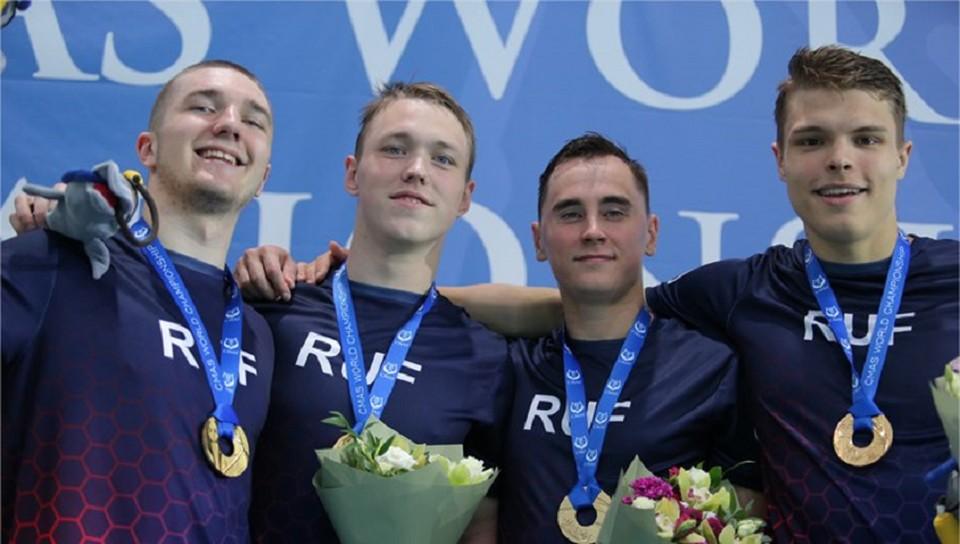 Российские подводники вышли победителями медального зачета ЧМ по плаванию в ластах - 2021. Фото Валерия Доронина.