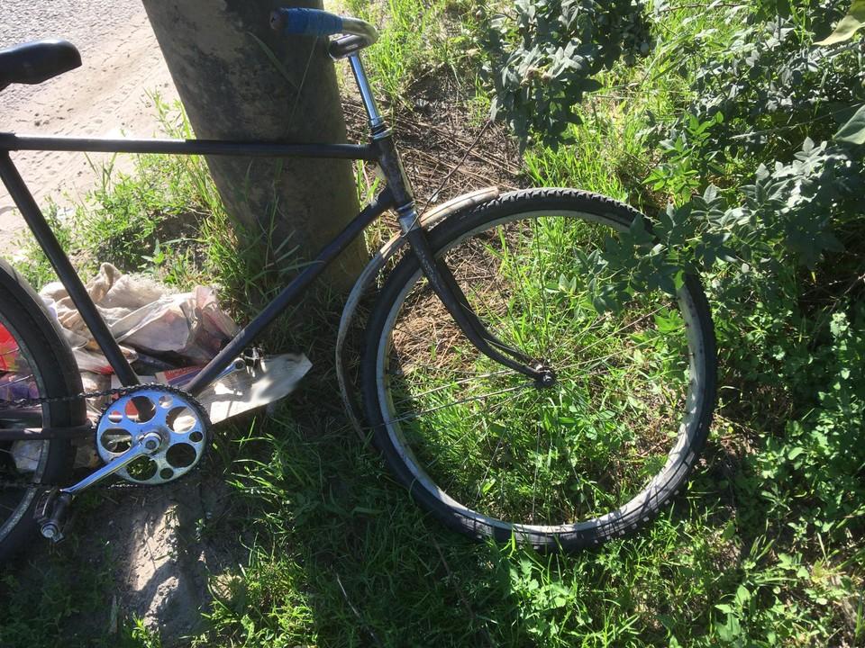 Хозяин велосипеда оказался в больнице