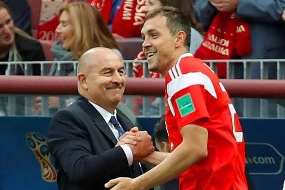 Дзюба поблагодарил Черчесова за годы тренерства в сборной России