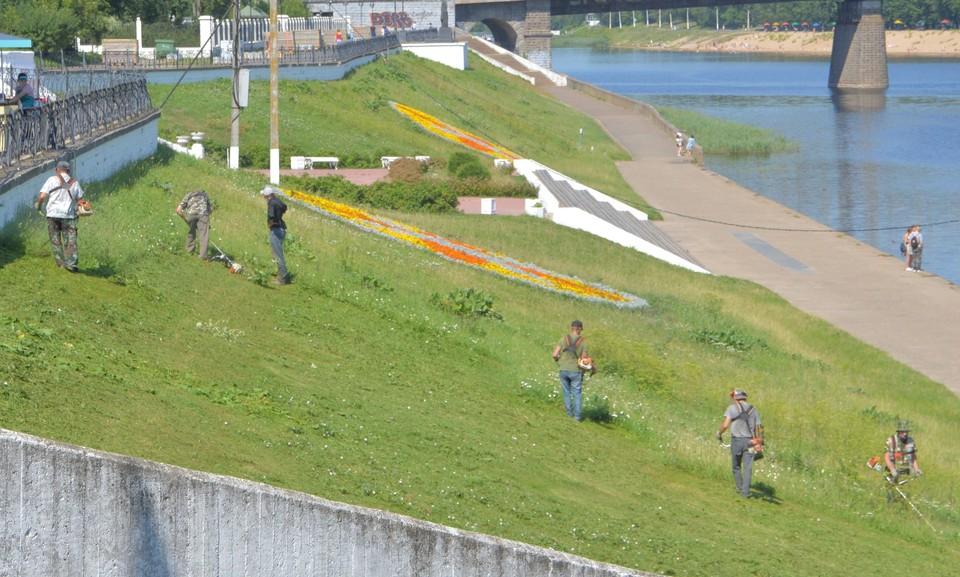 В Твери ведутся сезонные работы в зонах отдыха Фото: администрация Твери
