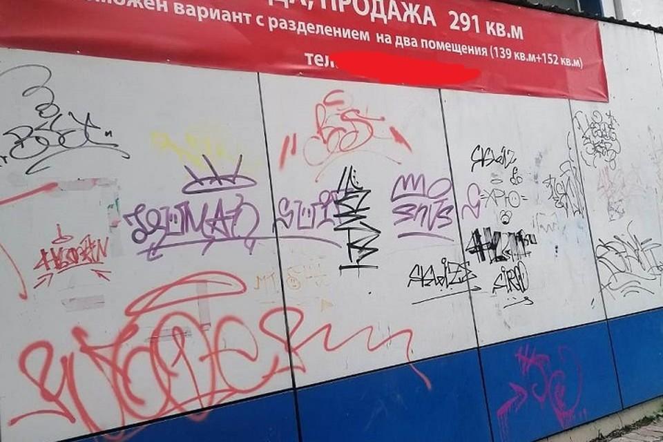 Штрафы за граффити и мусор в центре Хабаровска грозят предпринимателям
