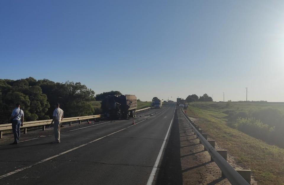Авария произошла на участке, где ведутся дорожные работы