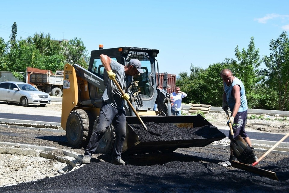 С начала работ одной из первых была отремонтирована улица Козлова в центре города. Фото: пресс-служба администрации Симферополя
