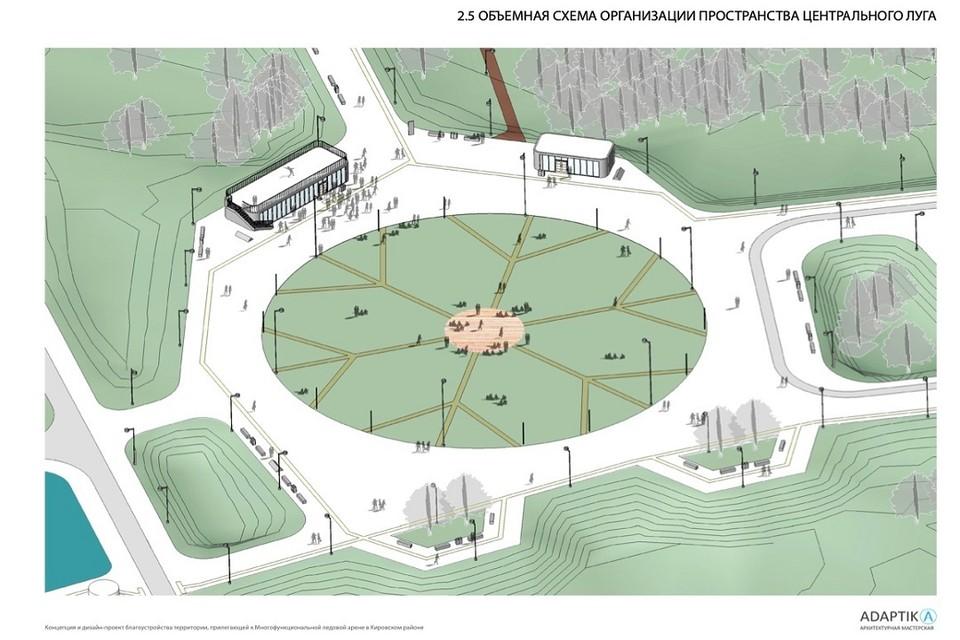 Парк будет готов к лету 2022 года. Фото: Муниципальный портал Новосибирска.