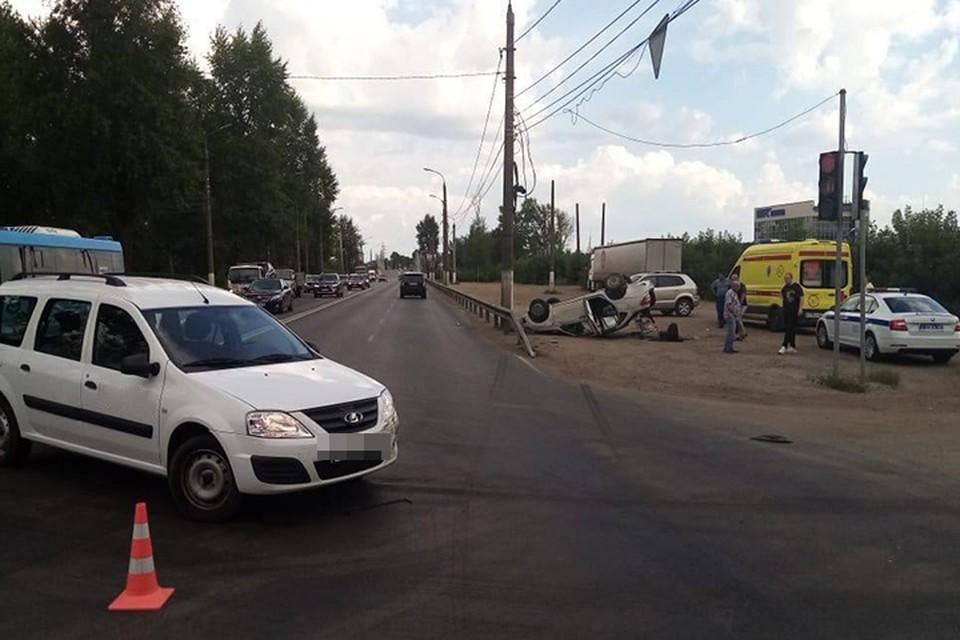 ДТП на Московском шоссе в Твери Фото: УГИБДД России по Тверской области
