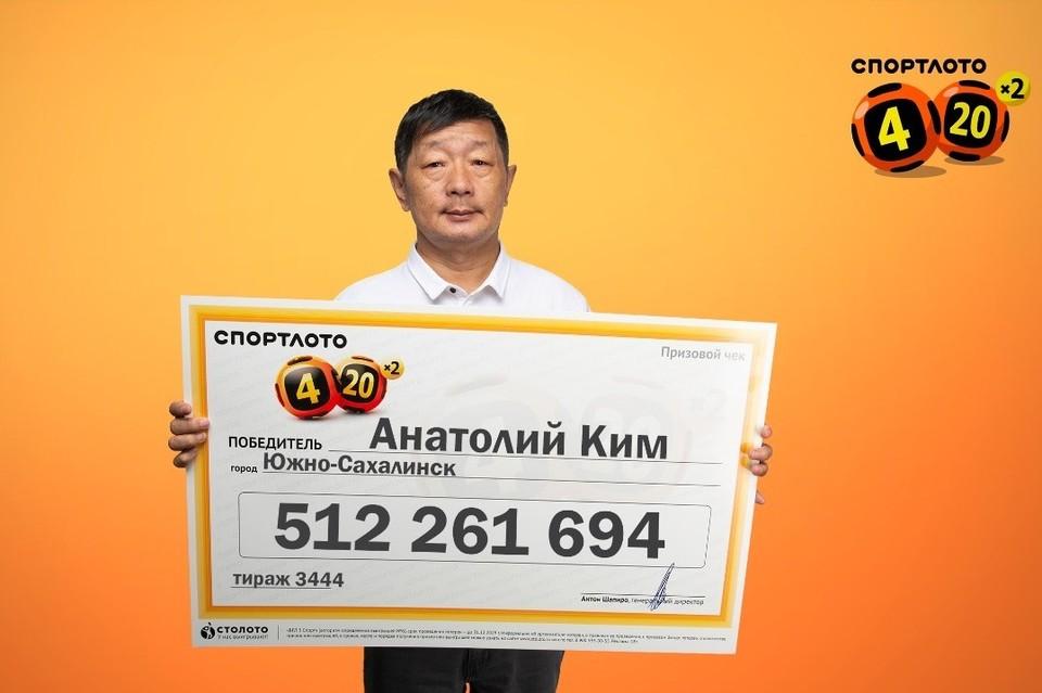 Победитель на момент розыгрыша находился в Москве и в тот же день узнал о выигрыше