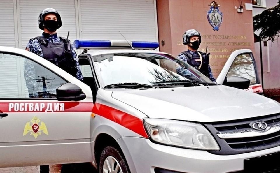 Агрессор не успел никому навредить, его вовремя задержали. Фото: пресс-служба ГУ Росгвардии по РК и Севастополю