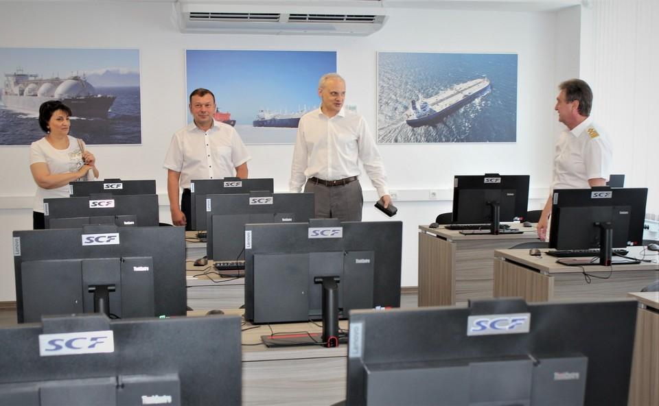 В Ушаковке открыта именная аудитория судоходной компании «Совкомфлот».