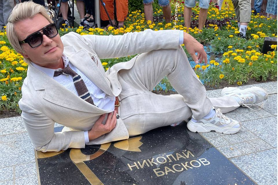 Николай Басков получил свою звезду в Витебске.