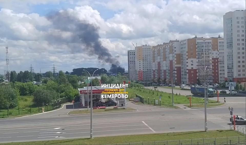 В Кемерове очевидцы сообщили о пожаре. Фото: ВКонтакте/incident_42.