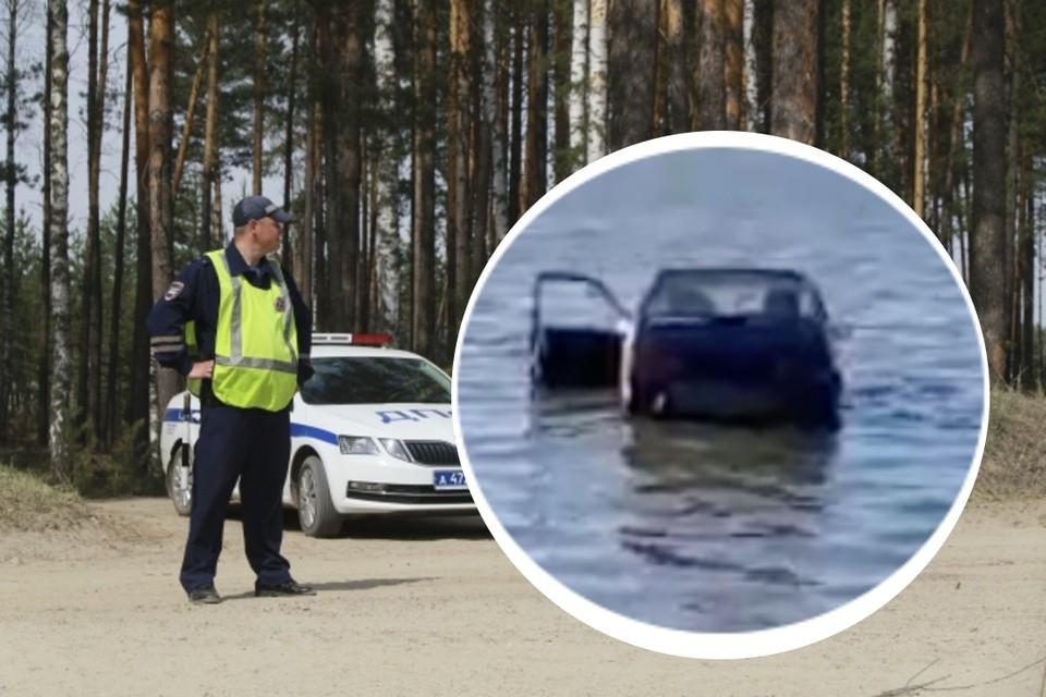 Полиция загнала пьяного водителя в озеро. Фото: Олег Укладов // предоставлено героями публикации