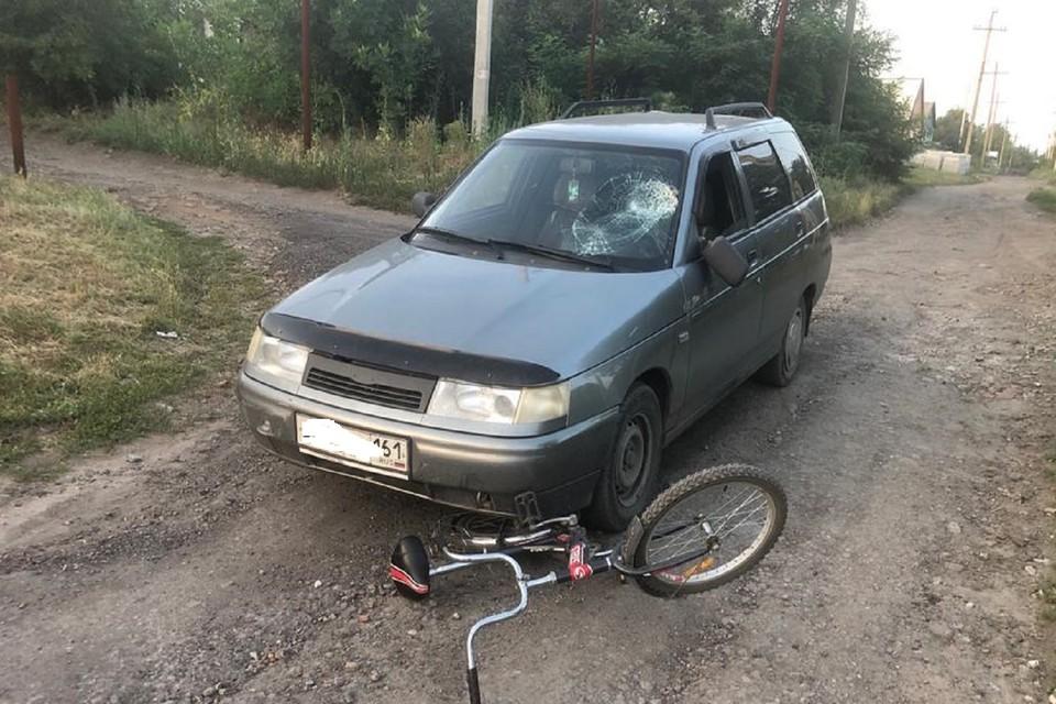 В Ростовской области в аварии пострадал школьник-велосипедист. Фото: ГИБДД по РО