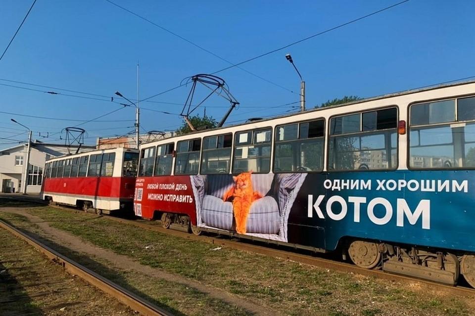 Новое оформление трамвая в Череповце