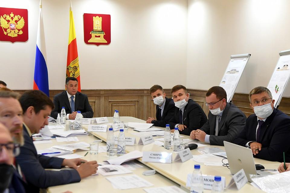 На совещании в областном правительстве обсудили запланированную реновацию исторического центра Торжка. Фото: ПТО