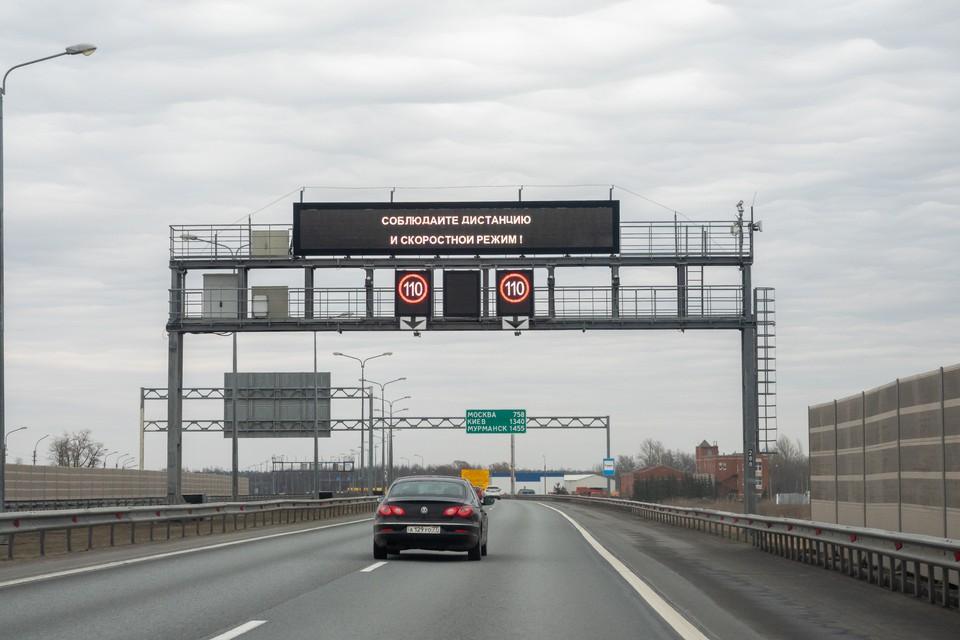 На развязке КАД с Пулковским шоссе полностью перекроют съезд