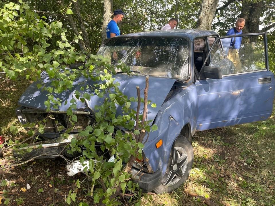 В Покровском районе госпитализировали водителя «Жигули», попавшего в кювет. Фото: Госавтоинспекции Орловской области.