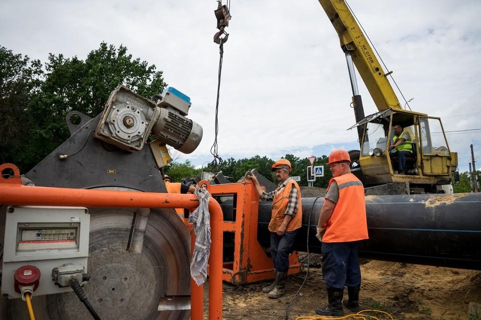 Водовод из Заводского в Советский район Орла готов более чем на 40%