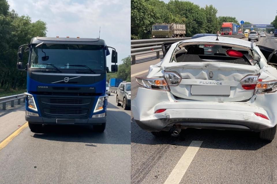 В аварии с участием грузовика и легковушки пострадал ребенок. Фото: отдел пропаганды УГИБДД по Ростовской области