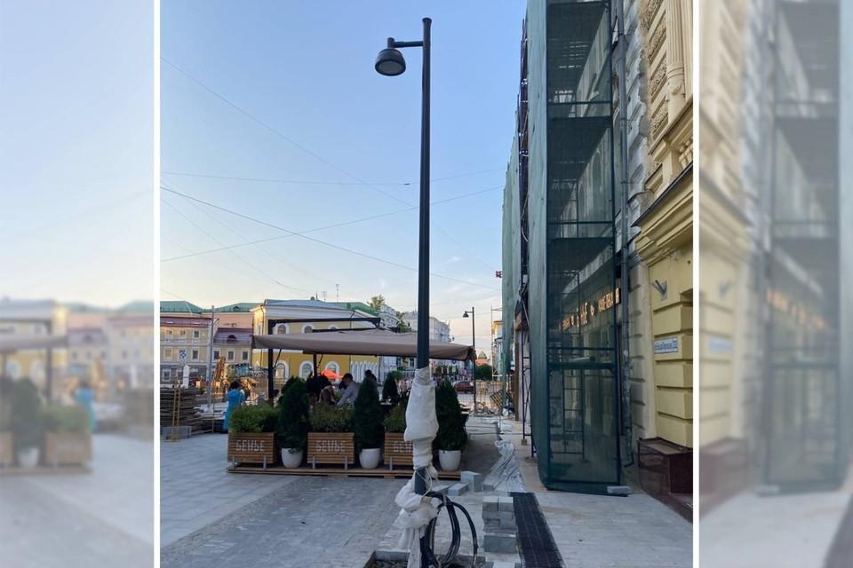 Что станет с прежними фонарными столбами неизвестно. Фото: Maxim Kozhevnikov. Источник: паблик Типичный Нижний Новгород