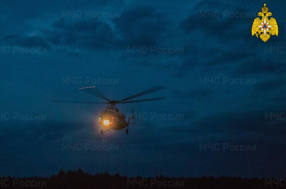 На вертолете в Тверь доставили ребенка Фото: ГУ МЧС России по Тверской области