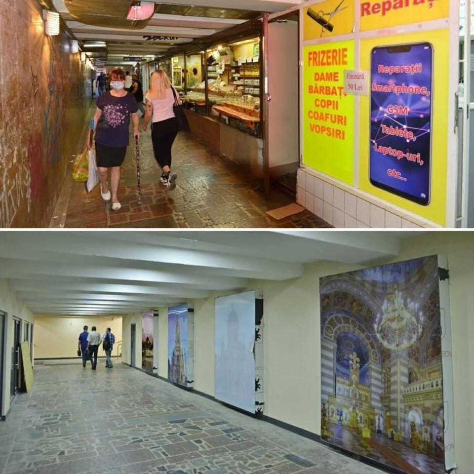 В настоящее время почти закончены ремонтные работы в подземном переходе. Фото: Ion Ceban