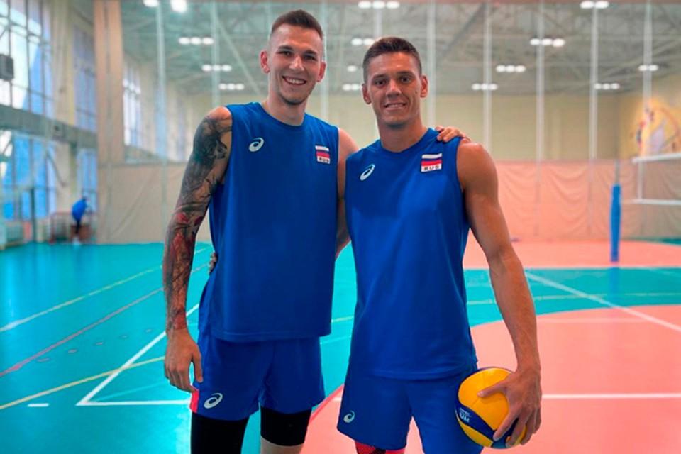 Волейболисты Иван Яковлев и Виктор Полетаев.