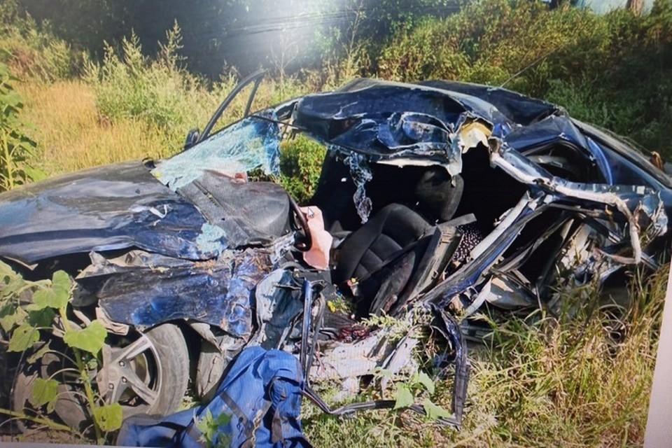 Предварительно, водитель не справился с управлением. Фото: отдел пропаганды УГИБДД