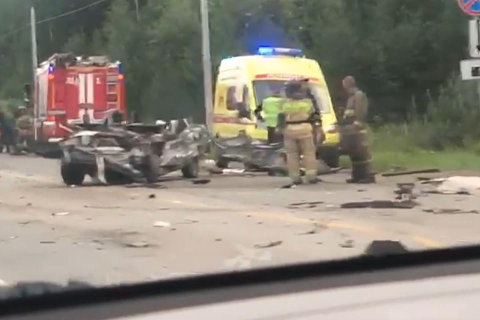 Авария произошла на 12-м километре дороги. Фото: читатель «КП»