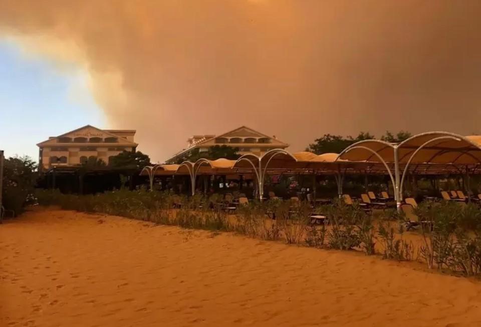 В турецком Мармарисе из-за лесных пожаров начали эвакуацию туристов