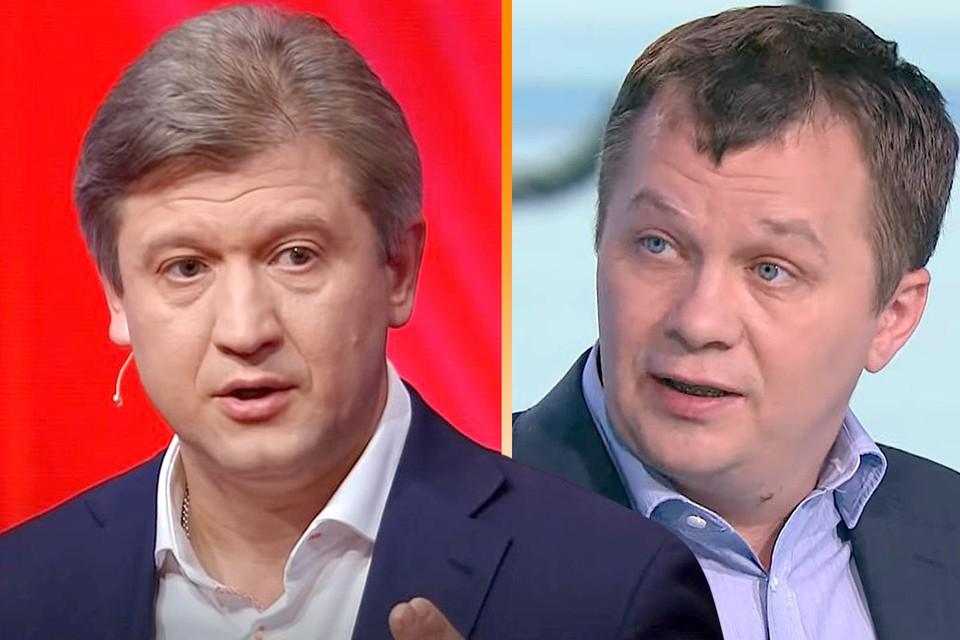 Вся Украина обсуждает драку экс-секретаря СНБО Украины Александра Данилюка (слева) с советником главы офиса президента Владимира Зеленского Тимофеем Миловановым.