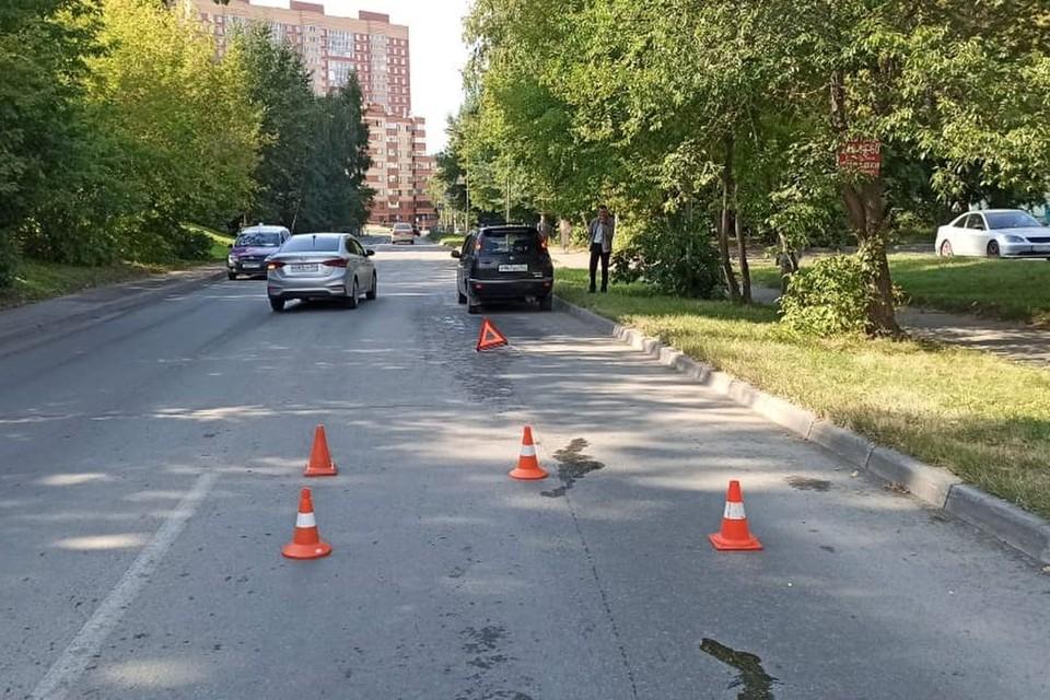 Иномарка сбила школьника, переходившего дорогу. Фото: Госавтоинспекция по Новосибирской области