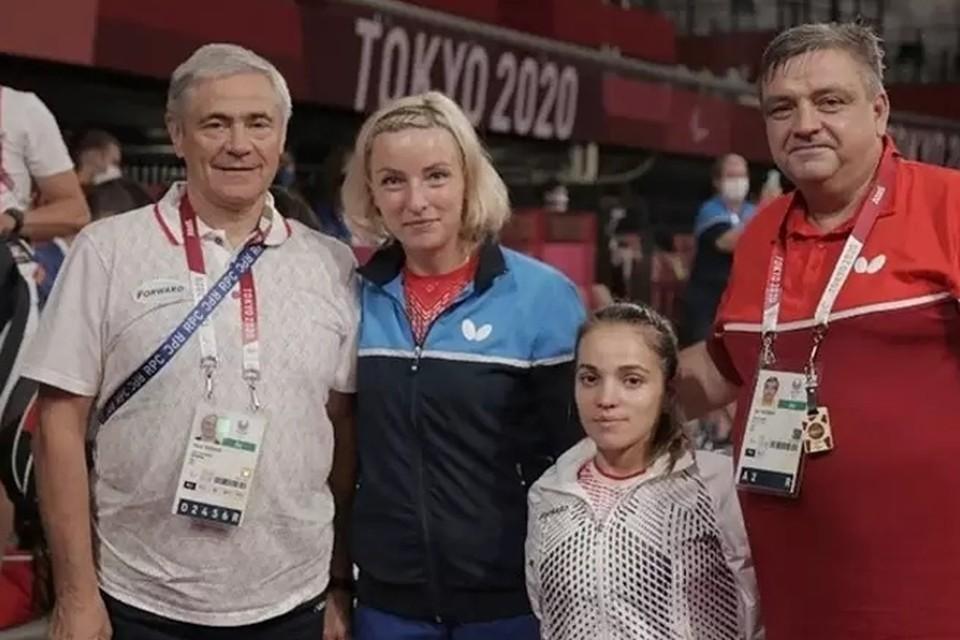 Виктория Сафонова и ее напарница Маляк Алиева. Фото: сайт Паралимпийского комитета России