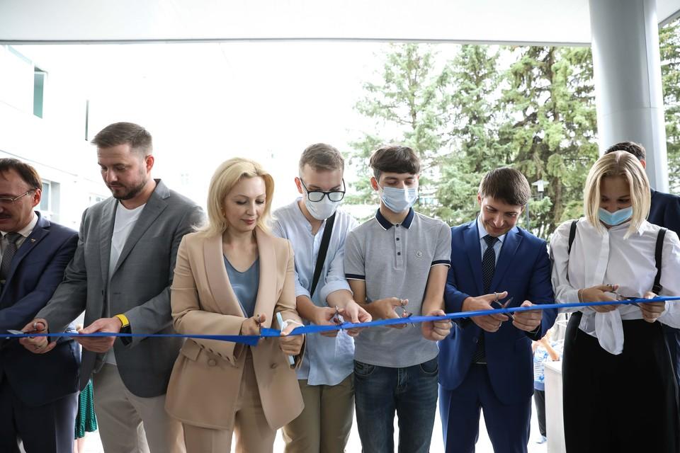 На церемонии открытия новых корпусов СКФУ.
