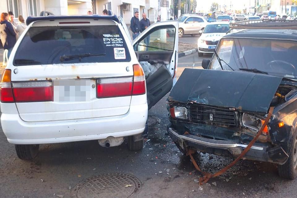 В аварии пострадали оба водителя Фото: УГИБДД России по Тверской области