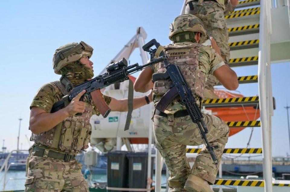 В Актау дан старт силовой фазы учений. Фото пресс-службы КНБ