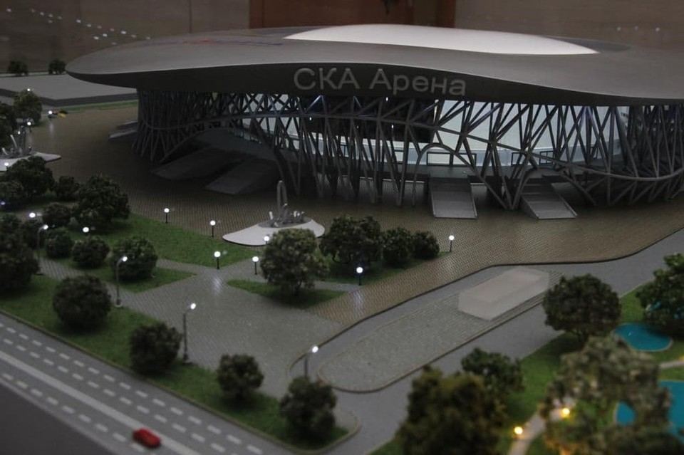 """Объемный макет арены СКА показали на форуме во Владивостоке. Фото: ООО""""СКА-Арена"""""""