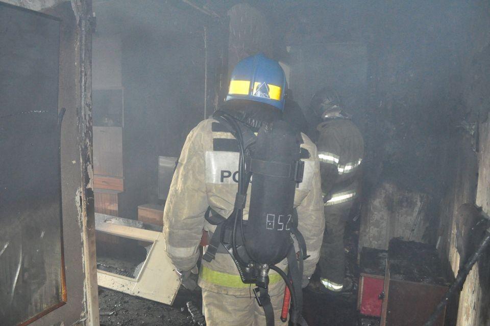 Причина пожара устанавливается. Фото: vk.com/spasinfo51