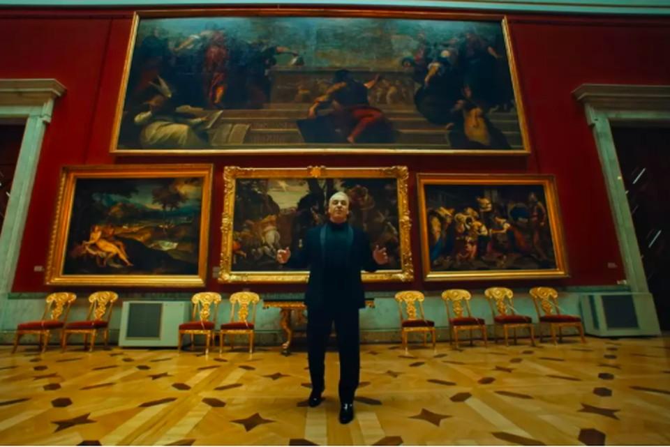"""Эрмитаж нашел компромисс с Тиллем Линдеманном, продающим изображения музея / Фото: клип на песню """"Любимый город"""" с YouTube-канала """"Till Lindemann"""""""