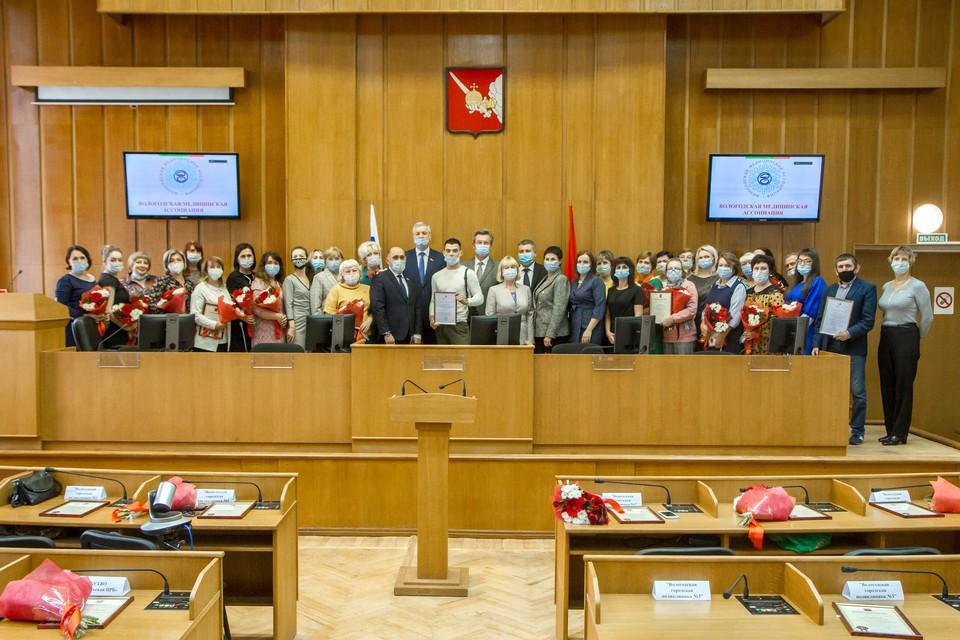 Награждение прошло в Законодательном Собрании области