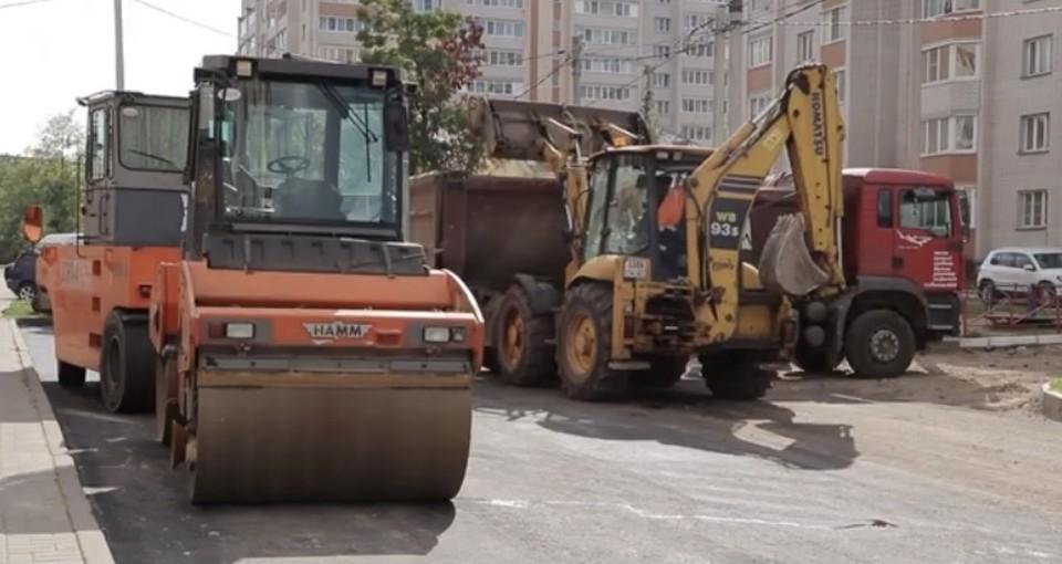 Ремонт на улице Матросова в Смоленске почти завершён. Фото: пресс-служба администрации города Смоленска.