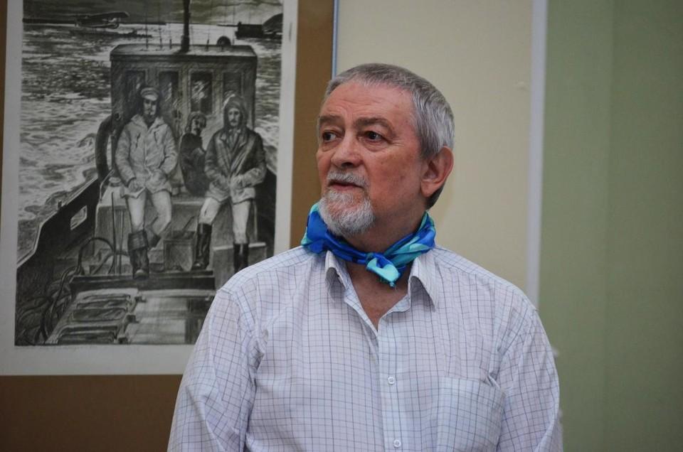 За два дня до смерти Георгий Сергеевич открыл свою последнюю выставку. Фото: «Либеров-центр»