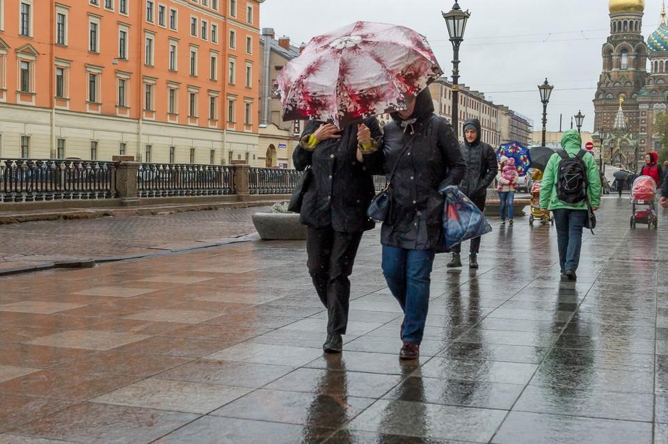 Неделя в Петербурге начнется с сильных дождей 13 сентября