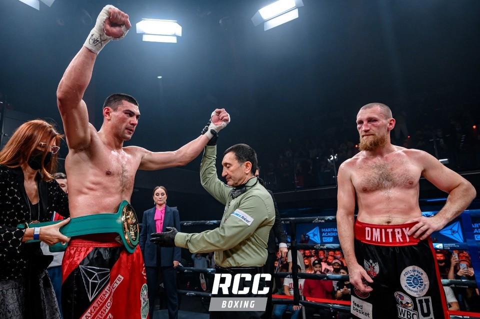 На счету Дмитрия Тищенко (слева) теперь девять побед (шесть нокаутом) и одно поражение.