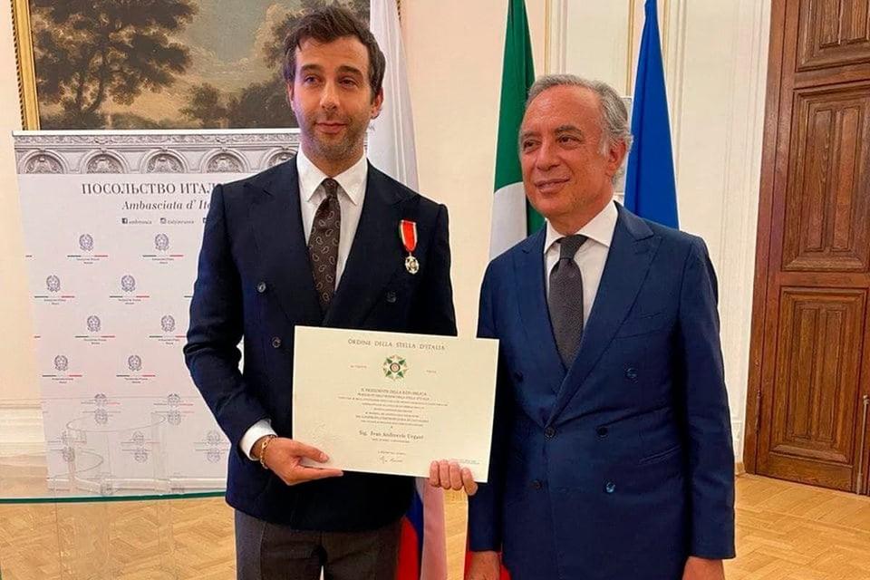 Российский телеведущий Иван Ургант получил орден Звезды Италии степени кавалера. Фото: ТАСС