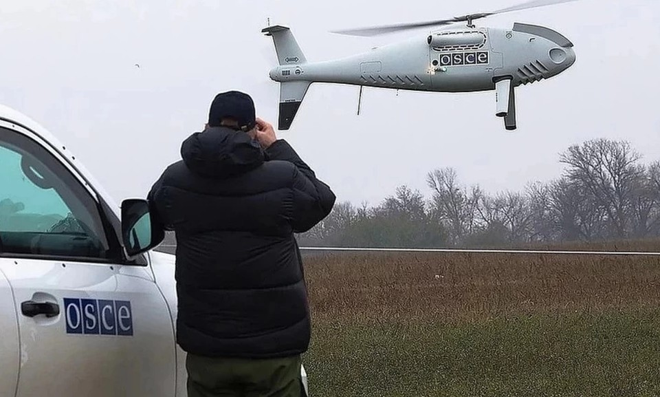 Украинские военные препятствовали работе беспилотников ОБСЕ в Донбассе. Фото: СММ ОБСЕ