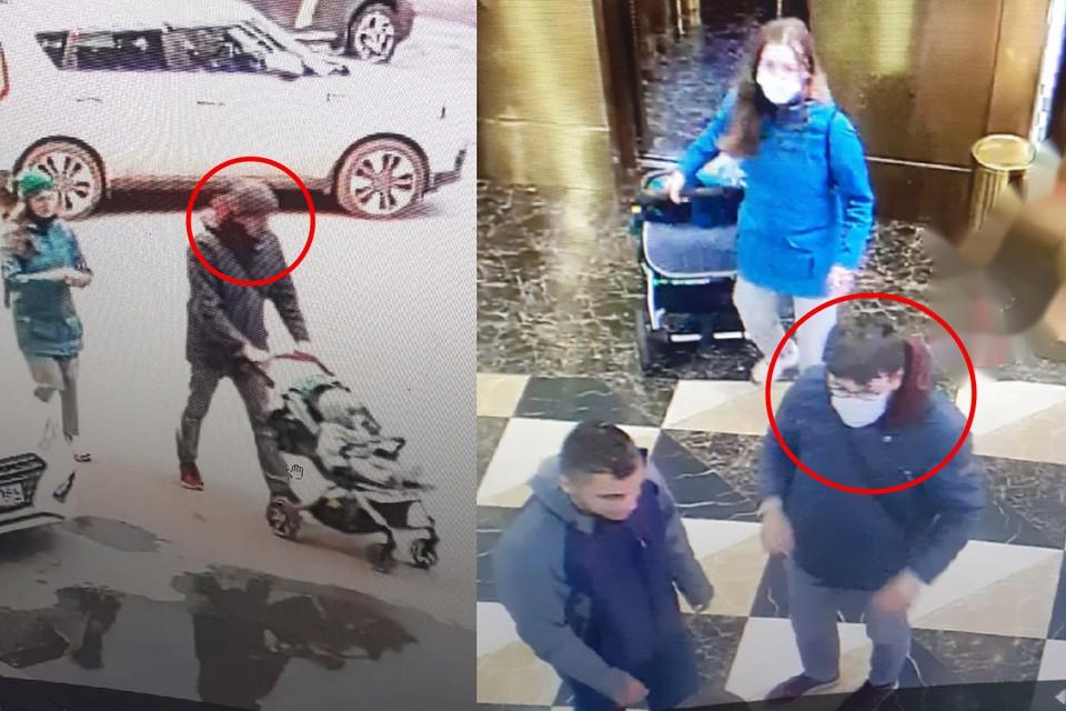 Потерпевшая просит очевидцев найти нападавшего по записям с камер (отмечен в кружке). Фото: предоставлены героями публикации